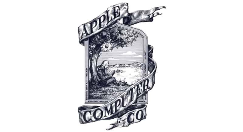 Apple's old logo until 1976