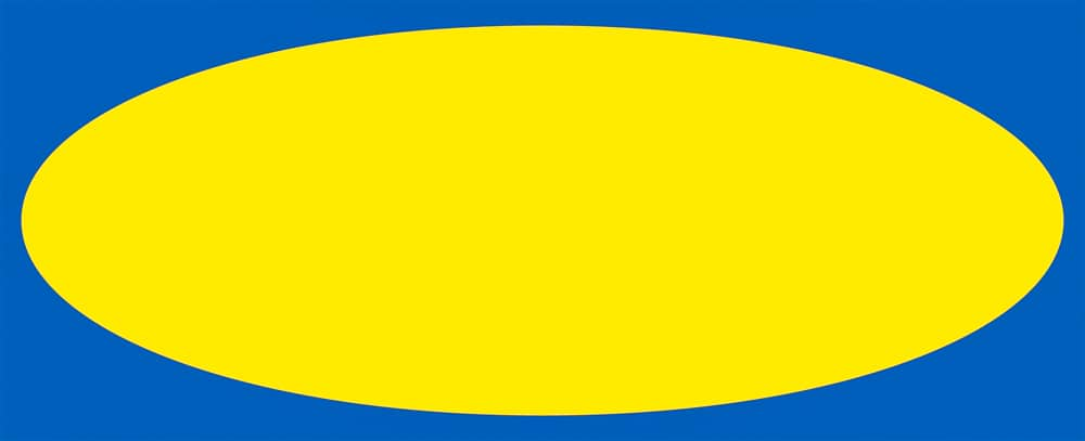 The Ikea logo with no letters