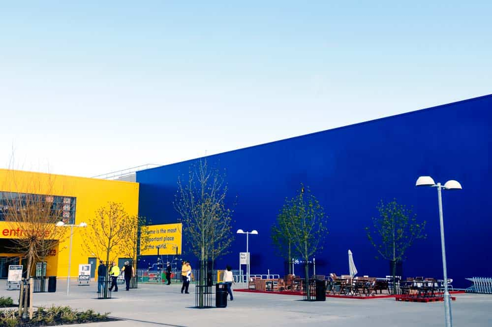 When good design matters so much that you don't even need the words: this photo shows an Ikea shop without the word 'Ikea' on its side, but it's still perfectly recognisable.