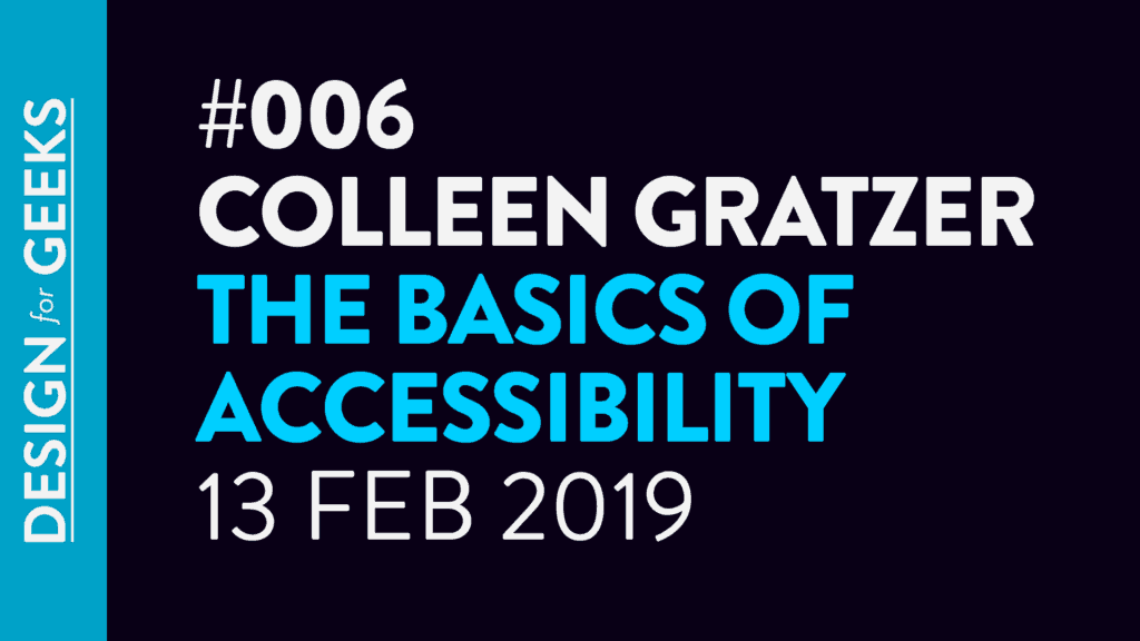 Colleen Gratzer live talk with Piccia Neri on the basics of accessibility