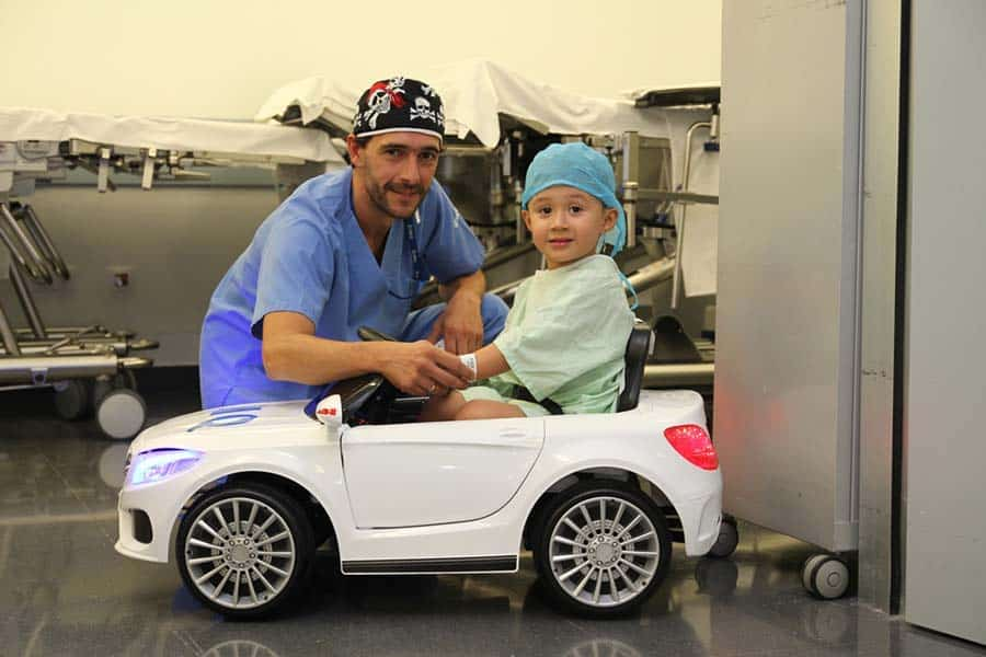 User experience design with real empathy: the hospital Zorrotzaurre in Bilbao sends childer to the operating theatre in electrical toy cars instead of gurneys.